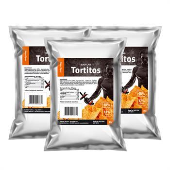 Bodylab protein tortitos (3x30 g) fra N/A på bodylab
