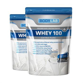 Bodylab whey 100 extra pure (2x1 kg) fra N/A på bodylab