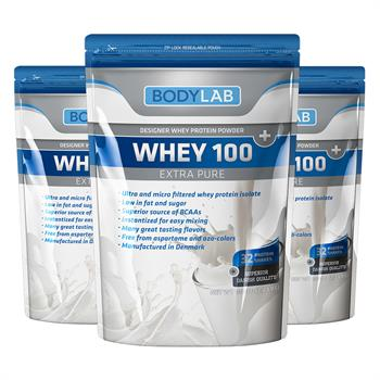 Bodylab Whey 100 Extra Pure (3x1 kg)