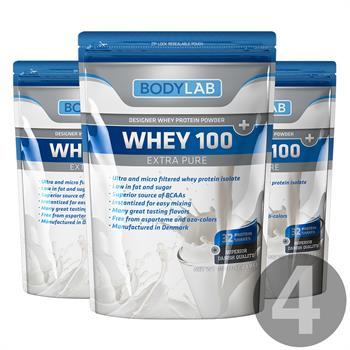 N/A – Bodylab whey 100 extra pure  (4x1 kg) fra bodylab