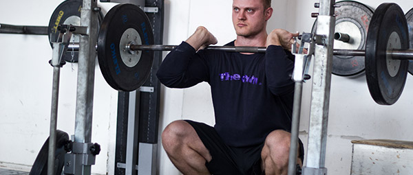 20-rep breathing squats i front squats?