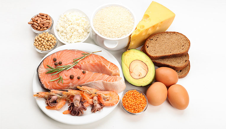 spise bare proteiner