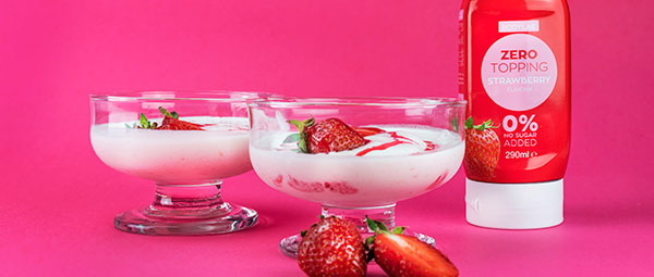 Protein Strawberry Softice