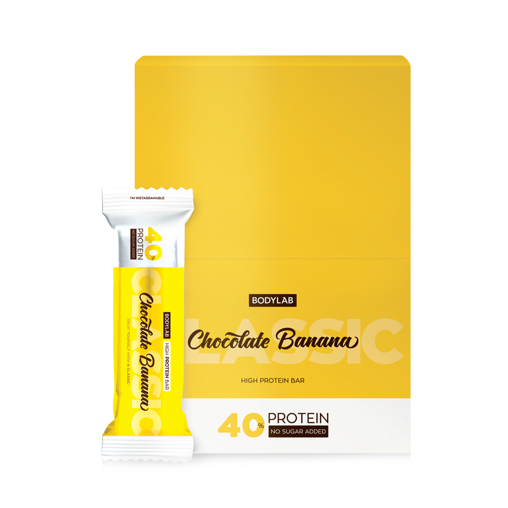 Image of   Bodylab Protein Bar Chocolate Banana (12 x 60 g)