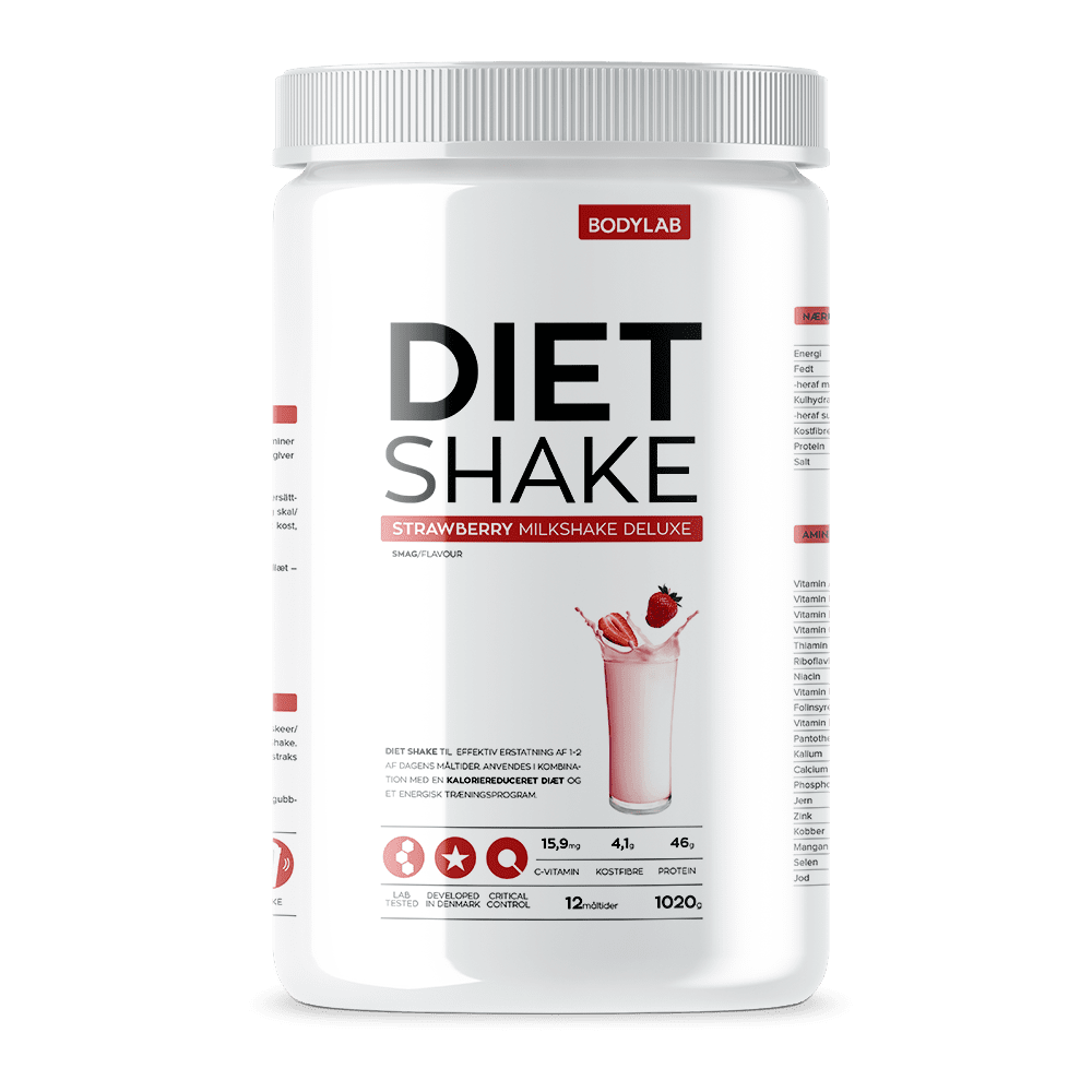 Image of   Bodylab Diet Shake (1000 g) - Strawberry Milkshake