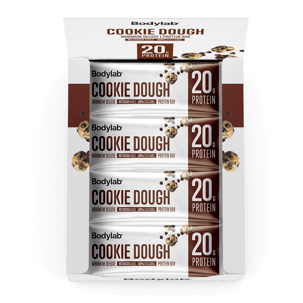 Billede af Bodylab Minimum Deluxe Protein Bar (12 x 65 g) - Chocolate Chip Cookie Dough
