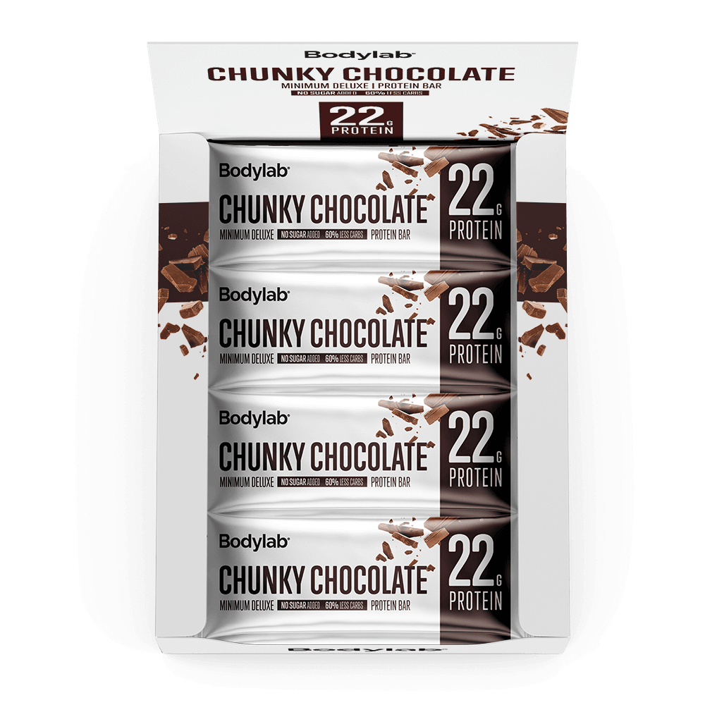 Image of   Bodylab Minimum Deluxe Protein Bar (12 x 65 g) - Chunky Chocolate