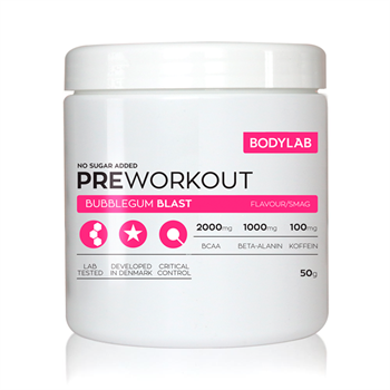 Image of   Bodylab Pre Workout (50g) - Bubblegum Blast