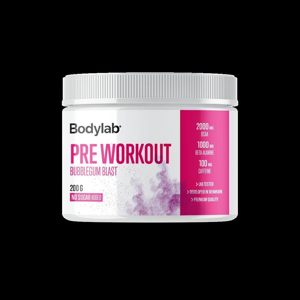 Billede af Bodylab Pre Workout (200 g) - Bubblegum Blast