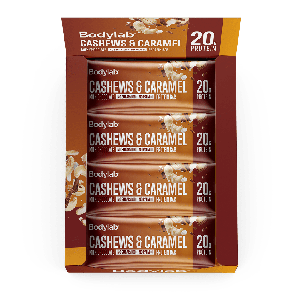 Image of   Bodylab Protein Bar (12 x 65 g) - Cashew Nut & Caramel