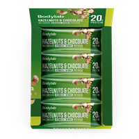 Bodylab Protein Bar (12 x 65 g) - Hazelnuts & Chocolate