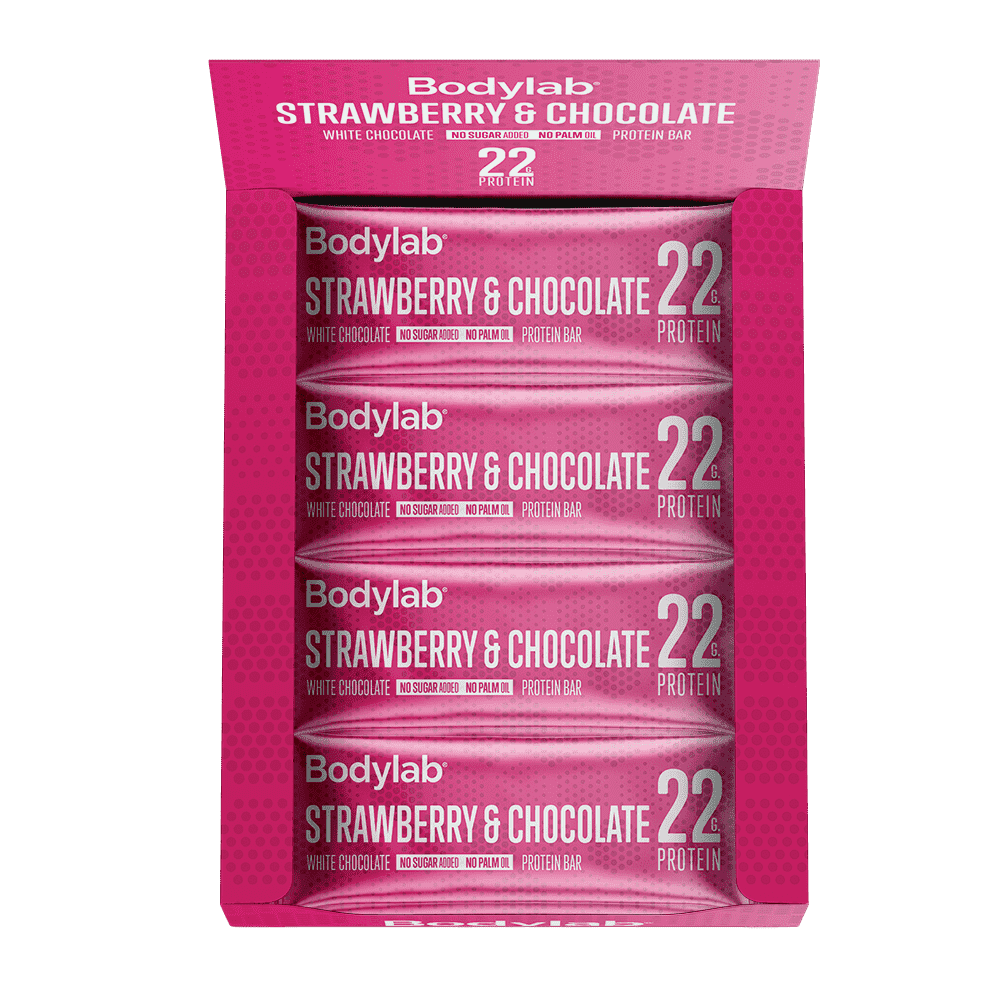 Image of   Bodylab Protein Bar (12 x 65 g) - Strawberry & White Chocolate