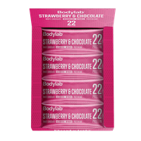 Bodylab Protein Bar (12 x 65 g) - Strawberry & White Chocolate