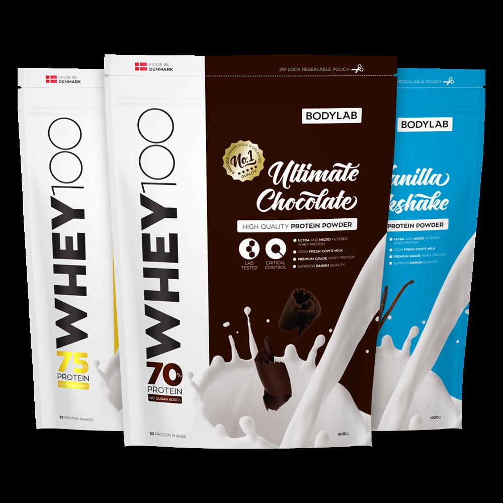 Produkter > Proteinpulver > Whey proteinpulver