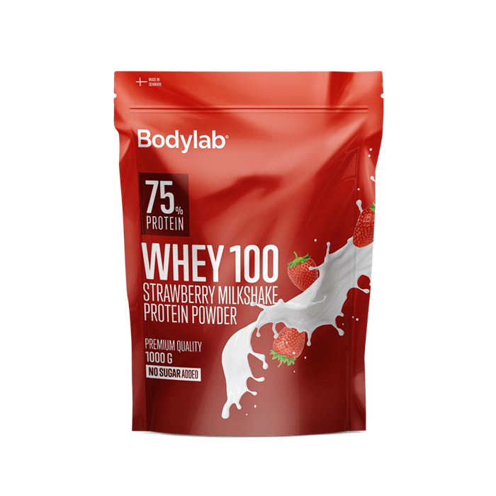Bodylab Whey 100 (1 kg) - Strawberry Milkshake