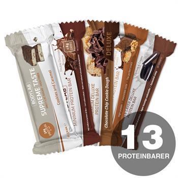 Prøvepakke med protein- og energibarer (13 stk)