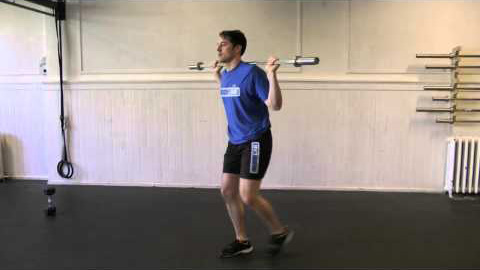 BB reverse lunges