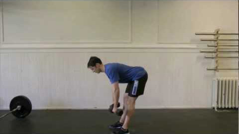 DB stiff-legged deadlift