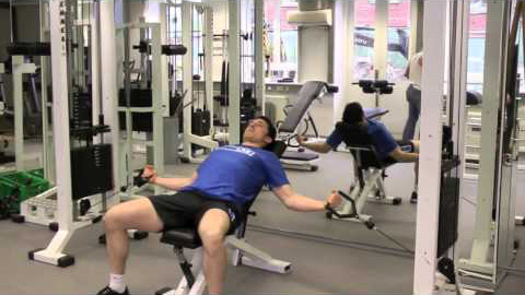 Incline bench cable flyes