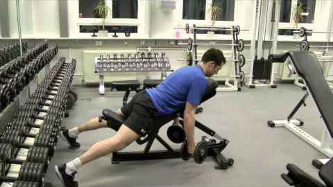 Prone incline curls