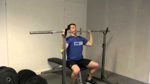 Seated BB shoulder press