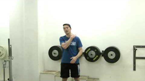 Standing DB shoulder press