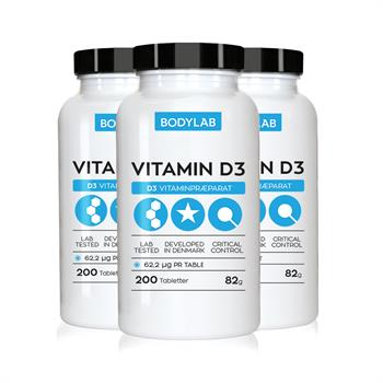 N/A Bodylab d vitamin (3x200 stk) fra bodylab