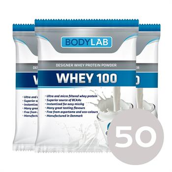 Prøvepakke med whey 100 (50x30 g) fra N/A fra bodylab